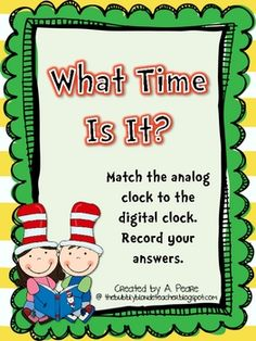 Viewing 1 - 20 of 11039 results for dr seuss telling time to the hour half hour Classroom Freebies, Math Classroom, Kindergarten Math, Classroom Ideas, Classroom Board, Teaching Time, Teaching Math, Teaching Resources, Teaching Ideas