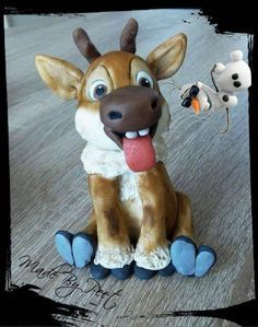 Baby Sven from Frozen Tutorial - CakesDecor                                                                                                                                                                                 More