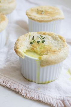 Our Family Favorite: Individual Chicken Pot Pies with Homemade buttery pie crust!