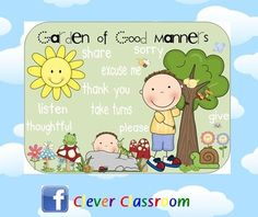 Good Manners Garden - behavior management poster - PDF file2 page resource, includes 2 different versions of the good manners garden poster and...