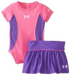Amazon.com: Under Armour Baby-Girls Newborn Nb Blocker Skirt Set: Clothing
