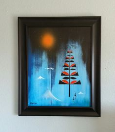 Forrest at night. 100 off today by TheAtomicNest on Etsy, $275.00