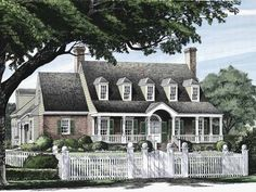 Adam - Federal House Plan with 3372 Square Feet and 4 Bedrooms(s) from Dream Home Source | House Plan Code DHSW50295