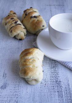 Cocinando sabores: Pan de leche con pepitas de chocolate