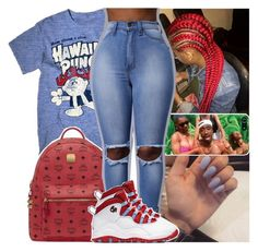 """"""""""" by daeethakidd ❤ liked on Polyvore featuring Archer, MCM and NIKE"""