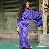 Batik robe, 'Kimono of Orchids'