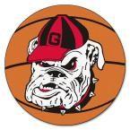 Ncaa University of Georgia Bulldog Logo Orange 2 ft. 3 in. x 2 ft. 3 in. Round Accent Rug