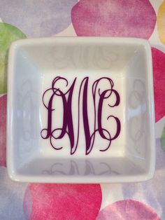 Personalized Ceramic Ring DishOne Color by HappyGoLuckyStudios