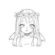 Chibi Sketch, Anime Sketch, Anime Drawings Sketches, Cool Art Drawings, Chibi Eyes, Anime Lineart, Drawing Templates, Dibujos Cute, Drawing Base
