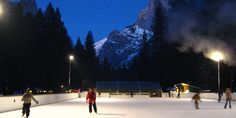 10 Outdoor Ice Rinks In The US You'll Want To Skate: Curry Village Ice Rink in Yosemite