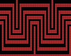 Wayuu Mochila pattern Grid Paint
