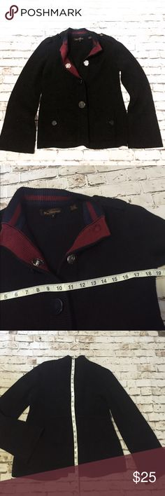 Ben Sherman black wool blend sweater peacoat Great condition, just missing one button tab Ben Sherman Jackets & Coats