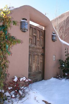 Winter Gate in Santa Fe, NM.  I love the fresh snow that fell the night before I recorded this image.  This image sells for $22 for an 11x14 matted piece.
