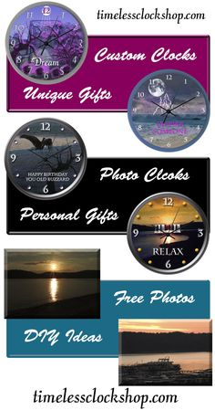 Free Photos and Custom Clocks at The Timeless Clock Shop.