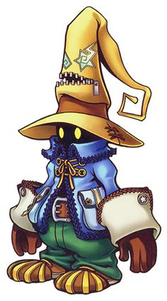 Vivi Orniter is Zidane's initially reluctant companion and the party's Black Mage in Final Fantasy IX. His story deals with Vivi trying to come to grips with the idea of death and his connection to the Black Mage Army of Alexandria. Final Fantasy Ix, Final Fantasy Artwork, Final Fantasy Characters, Fantasy Love, Kingdom Hearts Ii, Kingdom Hearts Heartless, Game Character Design, Character Art, Videogames