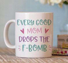 Funny Coffee Mug for Her - F-bomb Mug - Funny Mug - Gifts for Moms - Coffee Mug Humor Gifts For Boss, Gifts For Coworkers, Gifts In A Mug, Cute Coffee Mugs, Tea Mugs, Funny Mugs, Funny Gifts, Best Friend Gifts, Gifts For Friends