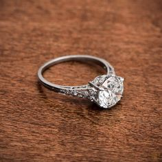 Guess how many carats on this Edwardian Ring?