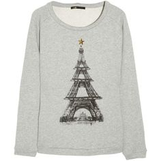 Maje Eiffel Tower cotton sweatshirt found on Polyvore. Two of my favorite things!!!
