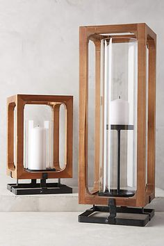 Sufficient lighting is key to making an outdoor space actually functional. Ambient lighting outside can be achieved by layering lighting fixtures. A few outdoor hanging lights paired with chic candle boxes like these will create an all over soft glow. These natural wood candle boxes from Anthropology are a beautiful focal point as well for those hard to design outdoor space! Go to modernlantern.com for more on outdoor lighting and our new outdoor lamps.