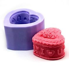 3D Cosmetic Box (LZ0102) Silicone Handmade Candle/Soap Mold Crafts DIY Mold
