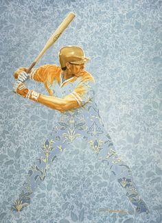 "Saatchi Online Artist: Jean-Pol d. d. Franqueuil; Oil, 2002, Painting ""Baseball"""