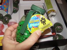 Hand Grenade Balloons - bought at Family Dollar store