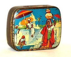 Hindu India Tea Sample Tin 1920s