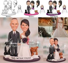 I totally did this for my own wedding!  We had cake toppers that looked just like us.  Of all the weddings I've shot, I've only seen two other couples do this, so it's a unique idea!