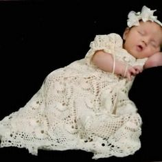 Beautiful crochet christening gown pattern found on Etsy, Sunset Crochet. I'm making this now...it's coming out beautiful!