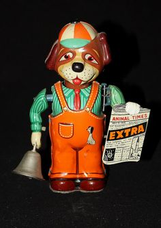 1950s Windup News Hound by CraftedandCherished on Etsy, $50.00