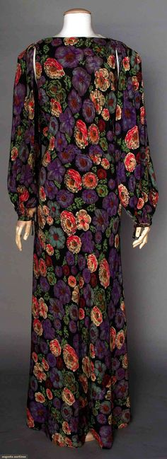 Printed Silk Gown, 1930s, via Augusta Auctions, NYC.