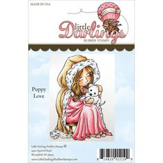 Little Darlings Unmounted Rubber Stamp 2.333 X3.25 - Puppy Love