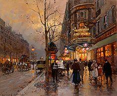 Edouard Leon Cortes (1882-1969) - Paris: Part II. Ik houd van de straatscenes van Cortes.