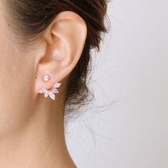 Rose Gold Or Silver Sparkle Swing Earrings - whatsnew