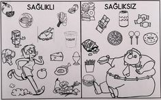 - Salud World 2019 Food Coloring Pages, My Themes, Embroidery Applique, School Projects, Junk Food, Preschool, Arts And Crafts, Healthy Eating, Comics