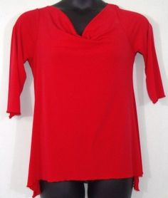 """Red Flare Top With Back Silver Hardware Design-Size 2xl by Cozy-Polyester and spandex blend-Width 20""""/Length 30""""-Sexy and stylish #plussize"""