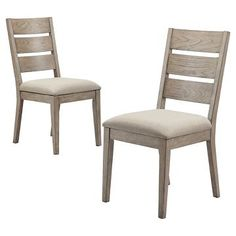 Gilford Upholstered Slat Back Dining Chair - Gray (Set of 2) - Threshold™