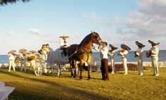 A horsedrawn carriage on the beach with a Mexican Mariachi band?! This would be ultimately PERFECT!!!