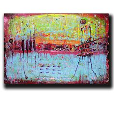 """Art Painting Canvas painting ORIGINAL  ABSTRACT  PAINTING on canvas  """"Before Tomorrow""""  24''x36'' Acrylic on Canvas"""