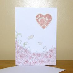 Heart and Roses card £2.00