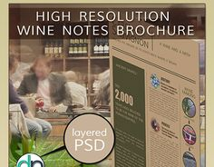 """Check out new work on my @Behance portfolio: """"Wine Notes Layered PSD Brochure Mockup"""" http://be.net/gallery/47328633/Wine-Notes-Layered-PSD-Brochure-Mockup"""