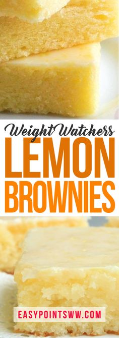Skinny Lemon Brownies ♥ 4SP / 3PP