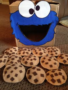 Cute. I think it has possibilities for math, review, etc.Teaching-365: Day 52: Cookie Monster Bean Bag Toss