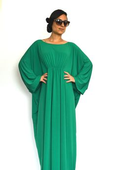 Long Sleeve 'Lovely Lucy' Plus Size Caftan/ Plus Size by onor