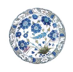 Museum Collection Floral Tin Enamel Plates | The English Room