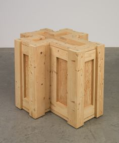 Daily Pic: An untitled sculpture from 1994 by Richard Artschwager, now on view as part of the Emily Fisher Landau gift to the Whitney Museum of American Art. Artschwager is one of the most neglected. Richard Artschwager, Invisible Cities, Pop Art Movement, Wood Joinery, Whitney Museum, Art Furniture, Conceptual Art, Wood Sculpture, American Art