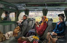 'The Felixstowe to Ipswich Coach' by Russell Sidney Reeve, 1940
