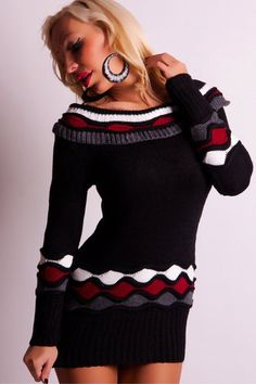 BLACK KNITTED JUMPER WITH WAVE PATTEM  http://www.rebelvisiononline.com/