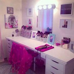 Imagem de makeup and room