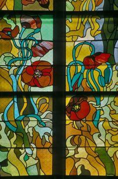 Maki, fragment witraża Stanisława Wyspiańskiego w kościele franciszkanów w Krakowie